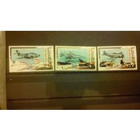 Самолеты, военная авиация, транспорт, техника, воздушный флот, марки, Грузия