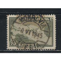 Либерия Авиа 1942 Карта полета в США #359