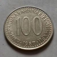 100 динаров, Югославия 1987 г.
