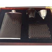 Джентельменский подарочный набор: фляга, портсигар, мерзавчик