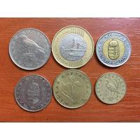 Венгрия, все ходовые монеты одним лотом