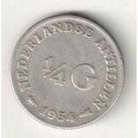 Нидерландские Антильские острова 1/4 гульдена 1954