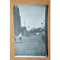 Фото. На улицах города. Ростов-на-Дону. 1934 г. 5.5х8.5 см.