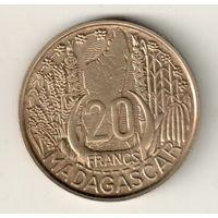 Мадагаскар 20 франк 1953