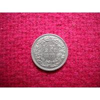 Швейцария 1/2 франка 1973 г.