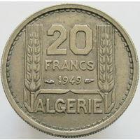 1к Алжир 20 франков 1949 В КАПСУЛЕ распродажа коллекции