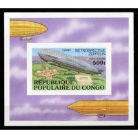 1977 Конго Браззавиль 582 / B11b Цеппелины 20,00евро