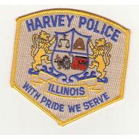 США Шитый шеврон полиция города Харви штат Иллинойс