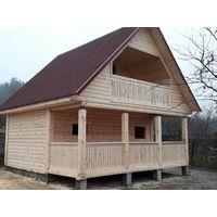 Дом-Баня из профилированного бруса 6 на 4 с терассой