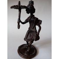 Старинная Бронзовая статуэтка.