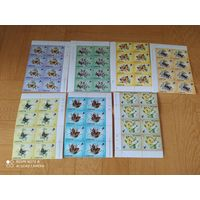 Блоки марок бабочки.Лесото.1984 г