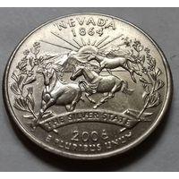 25 центов, квотер США, штат Невада, D