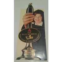 Рекламка музея пива англ.пивоварни Bass кон.90-х