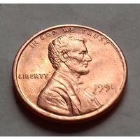 1 цент США 1991, 1991 D