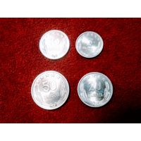 Албания набор 4 монеты 5, 10, 20, 50 киндарок 1964 UNC