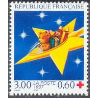 Франция мишка Красный крест звезда