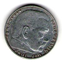 Германия 2 марки 1938 года. A.