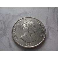 Каймановы острова 25 центов 1992  год