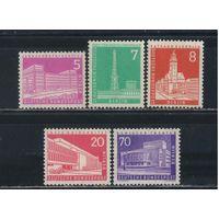 Германия Зап.Берлин 1956-9 Архитектура Берлина Стандарт #141-2,146,152,187*