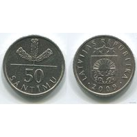 Латвия. 50 сантимов (2009)