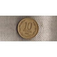 Чили 10 сентаво 1981 год/ангел рвёт цепи(Nv)