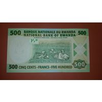 Банкнота 500 франков Руанда 2004