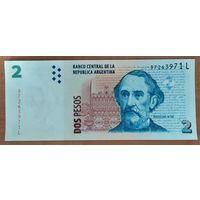 2 песо 2014 года - Аргентина - UNC