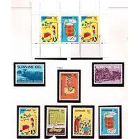 Суринам-1982,(Мих.997-1001,Бл.35) **  ,20% каталога, Детский рисунок