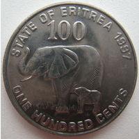Эритрея 100 центов 1997 г.