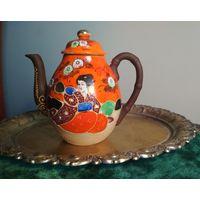 Чайник заварник имбрик Восток ( Япония, Китай, Кантон ?) фарфор эмаль ручная работа