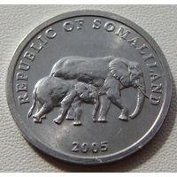 "Сомалиленд. 5 шиллингов 2005 год КМ#19  ""Слон и слоненок"""