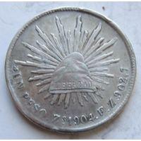Мексика, песо, 1904, серебро