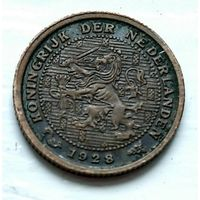 Нидерланды 1/2 цента, 1928 1-11-21