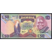ZAMBIA/Замбия_50 Kwacha_nd (1986 - 1988 )_Pick#28.a_UNC