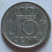 Нидерланды, 10 центов 1975 г