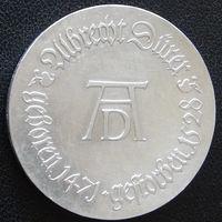 YS: ГДР, 10 марок 1971, 500-летие Альбрехта Дюрера, художника, серебро, КМ# 31