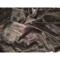 Отрез черной ткани с люрексом, цена за 5 метров шириной 150