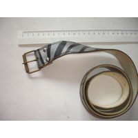 Ремень женский кожзам советский вариант зебры 80-е гг СССР ширина 3,5 см, дл. 89 см