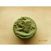 НЕ ЧАСТАЯ МОНЕТА!!! Пантикапей, тетрахалк(сатир/лев, осётр)не чищена. Около 294 - 284 г. до н. э.