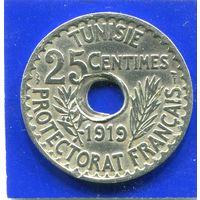 Тунис 25 сантимов 1919