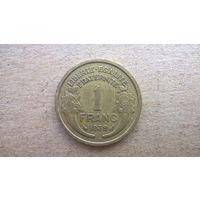 Франция 1 франк, 1939г. (U)