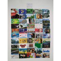 Лот телефонных карт разных стран 50 штук #6