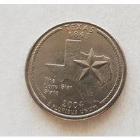 25 центов США 2004 г. штат Техас P