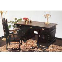 Антикварный дубовый письменный двухтумбовый стол
