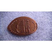 Монета 20 драм Армения сталь с медным покрытием . оттиск Гарни. распродажа