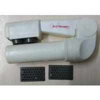 Массажер для тела body massager bcm-01, белого цвета, с насадками.