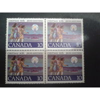 Канада 1977 Рождество квартблок