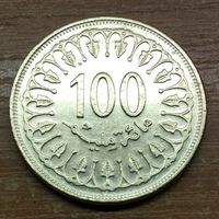 Тунис 100 миллимов 1983