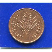 Свазиленд 1 цент 1986