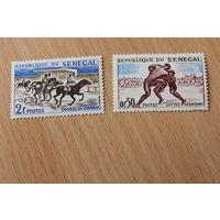 Почтовые марки Сенегал 2 штуки спорт